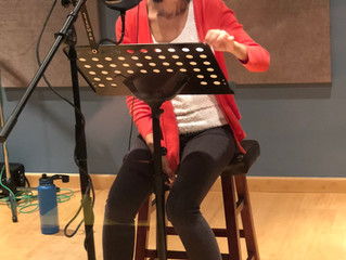 Holly Liu recording session