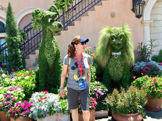 At one with the Topiaries!