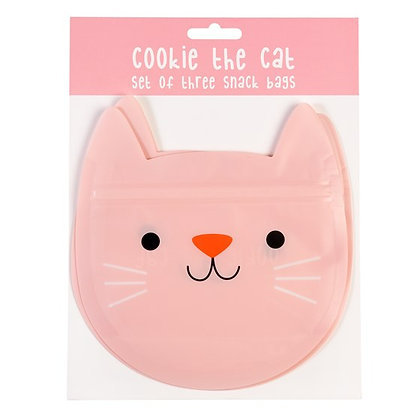 Reusable Snack Bags - Cookie the Cat