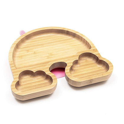 Over the Rainbow - Bamboo Silicone Suction Section Plate