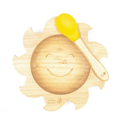 'You Are My Sunshine' Bamboo Silicone Suction Bowl and Spoon Set