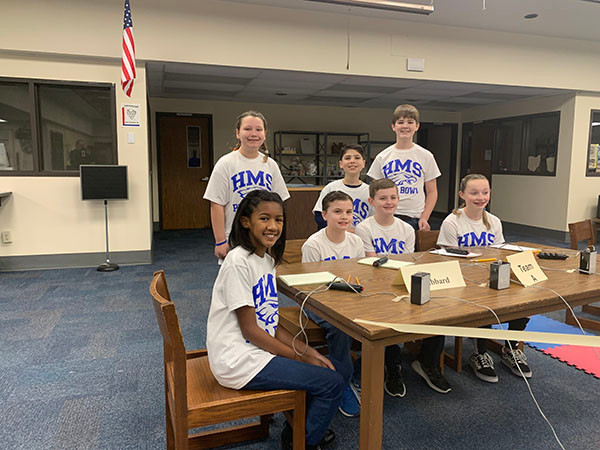 Hubbard Middle School Prep Bowl Team