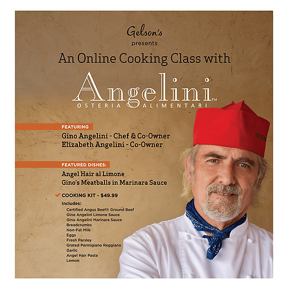 Community Event: An Online Cooking Class with Angelini Osteria Alimentari