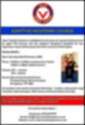 ADAPTIVE WEAPONRY FLYER 22ND FEBRUARY 20
