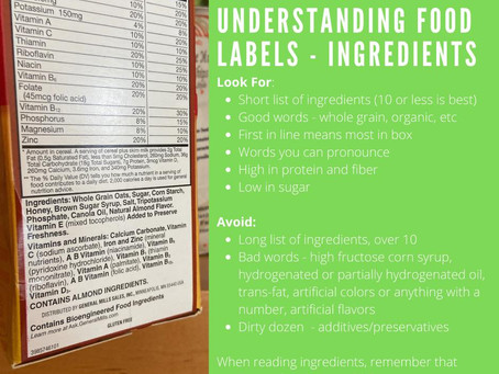 READING THE LABELS