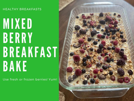 HONEY BERRY OATMEAL BAKE