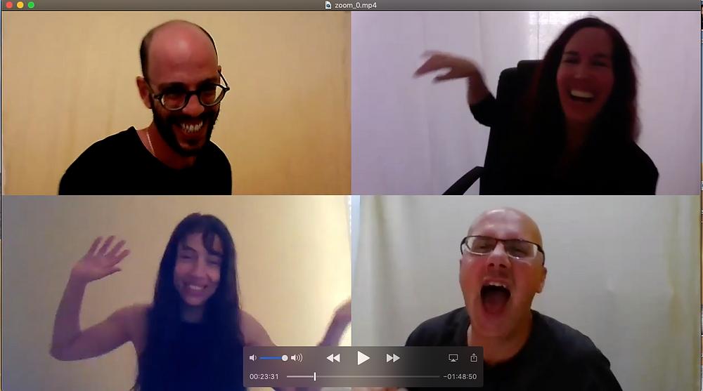 מפגש וירטואלי תרגום תבניות פלייבק לזום החבר׳ה מאיכילוב
