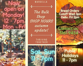 Autumn SHOP HOURS updated Photo Collage