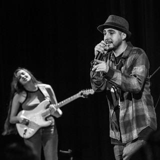 """Fego Navarro's Album Release show for """"Heart of Man"""" @ SF State. Fego preforming with Kristen."""