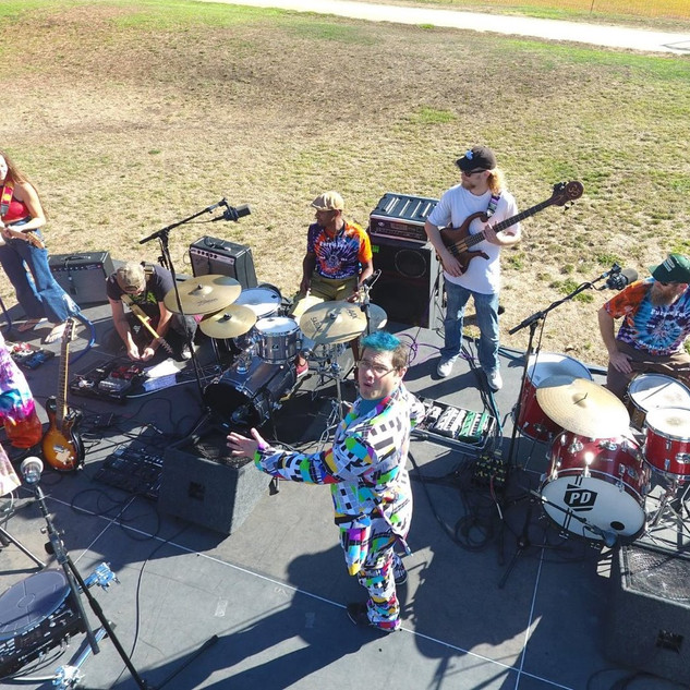 Purple Fox and The Heebie Jeebies performing @ Mitchell Park in Palo Alto, CA.  Photo by Jeremy Hanken