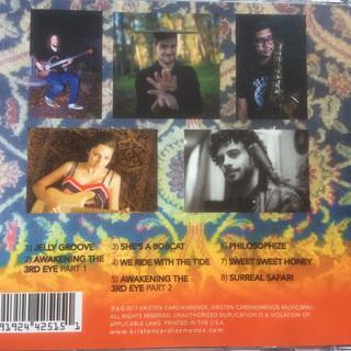 """Back of """"The Awakening"""" CD (2017)"""
