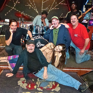 Kristen, Garth Webber and friends performing @ Little Lous BBQ in Cambell, CA.  Photo by Bobbi Goodman
