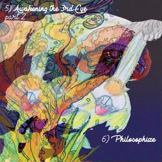 """""""The Awakening"""" inner cd booklet art (2017).  Inner booklet art by Olga Kryvokon & Kristen Cardiasmenos"""