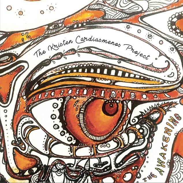 "Front Cover Art of The Kristen Cardiasmenos Project's Debut Album ""The Awakening"" (2017).  Front cover by Olga Kryvokon"