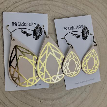 Geo Tear Drop Earrings