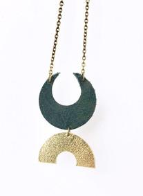 Half Moon Geometric Necklace
