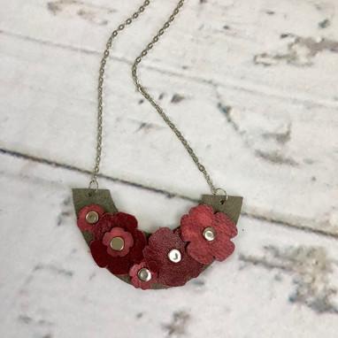 Leather Arc Necklace