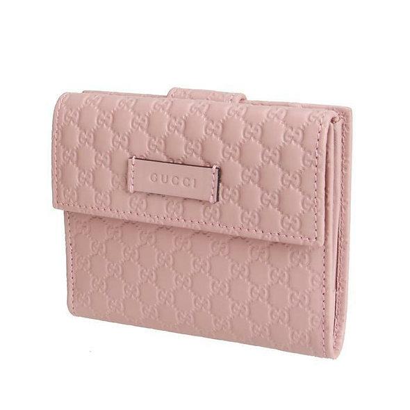 [Gucci] 구찌 마이크로시마  버튼 여성 반지갑 464916 핑크