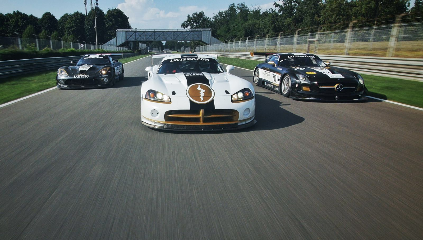 Viper / SLS auf dem Race Track