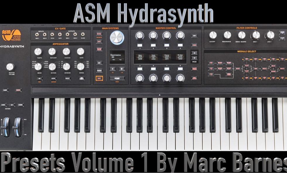 ASM Hydrasynth Volume 1 by Marc Barnes
