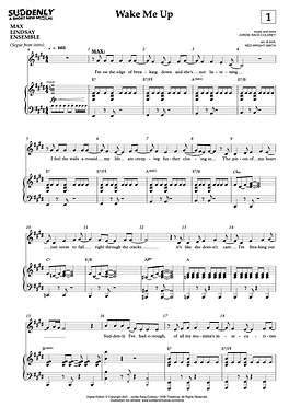 """Wake Me Up"" Piano Vocal Score (Digital)"