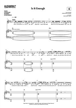 """Is It Enough"" Piano Vocal Score (Digital)"