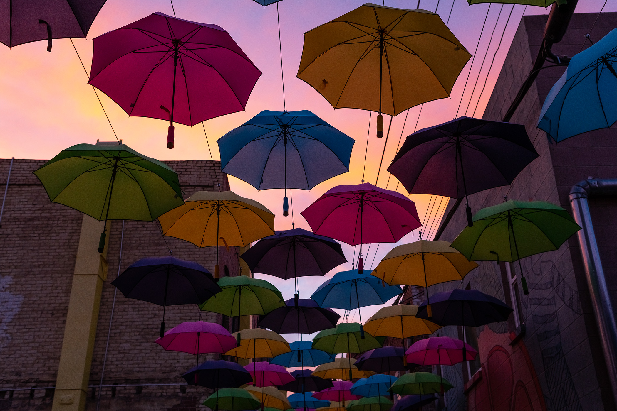 Umbrella Alley Sunset