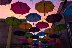 Umbrella Alley Sunset