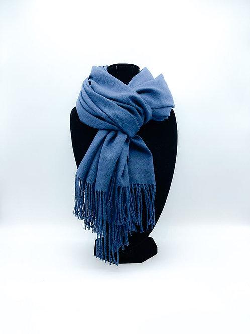 Sciarpa 100% viscosa color blu