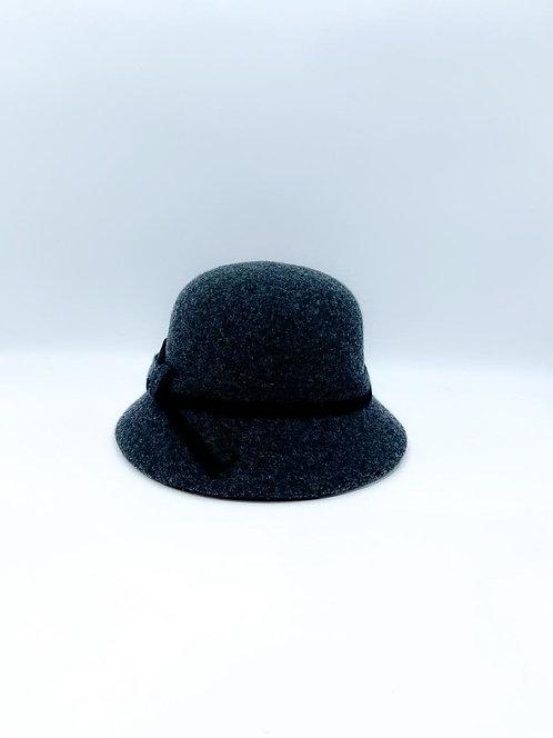 Cappello cloche grigio scuro