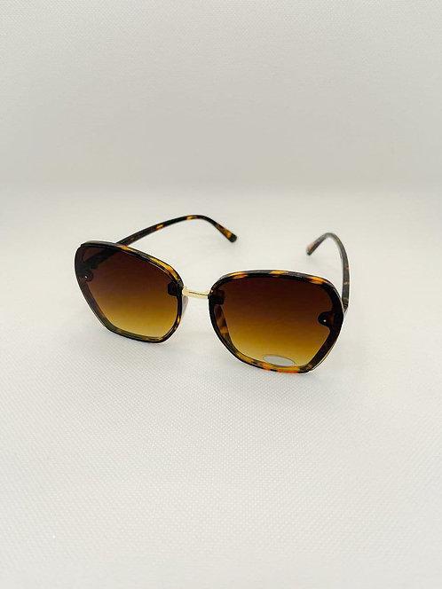 Occhiali sole lente intera marrone