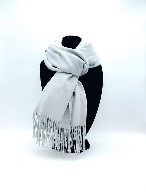 Sciarpa 100% viscosa color grigio chiaro
