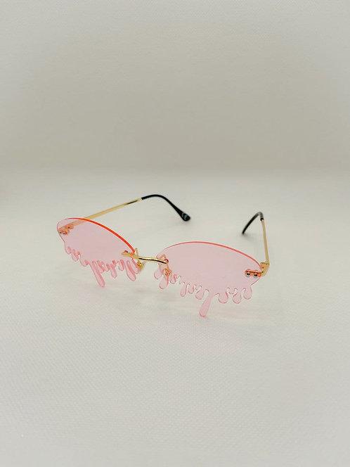Occhiali sole gocce rosa