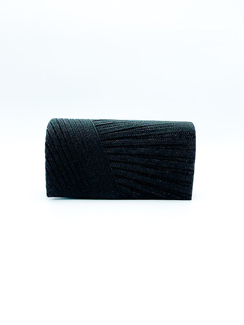 Pochette con strass color nero