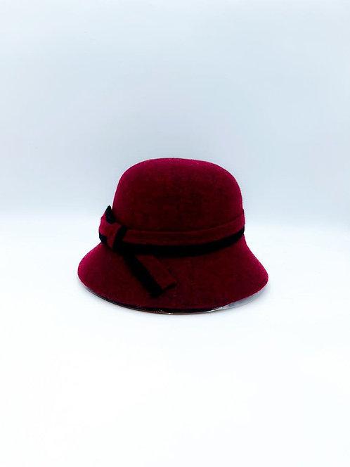 Cappello cloche bordeaux