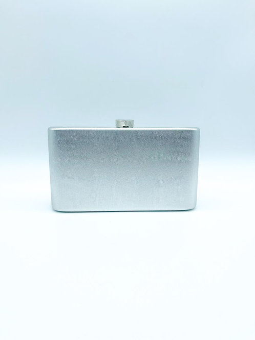 Pochette metalisé color grigio