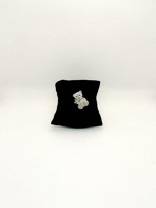 Spilla teddy bear argento