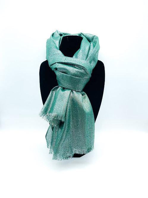Sciarpa con tulle 100% viscosa color verde