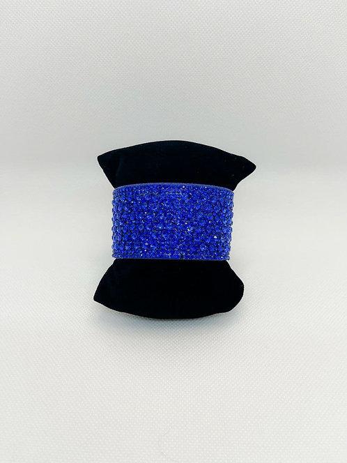 Bracciale fascia cristalli blu