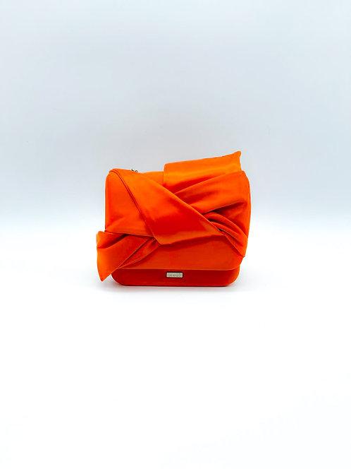 Borsella fiocco tessuto Nalì arancio