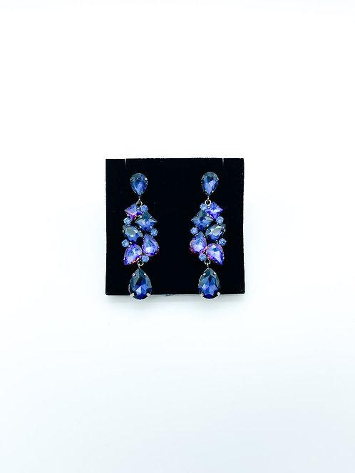 Orecchini cascata blu