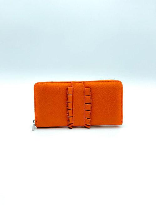 Portafoglio donna color arancio