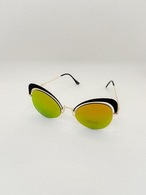 Occhiali sole fascia nera giallo