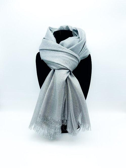 Sciarpa con tulle 100% viscosa color grigio