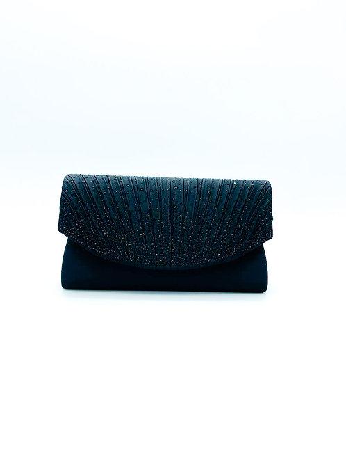 Pochette con pietre color nero
