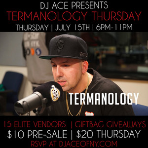 Thursday's event we have TERMANOLGY in the building