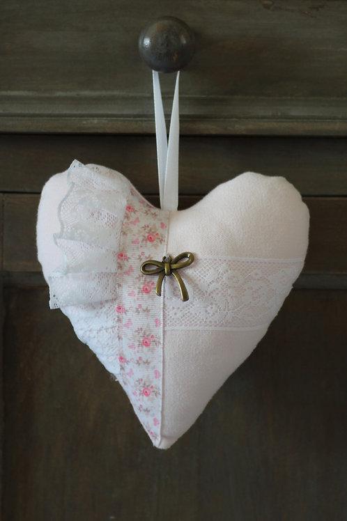 Coeur en tissu  Décoration des poignées