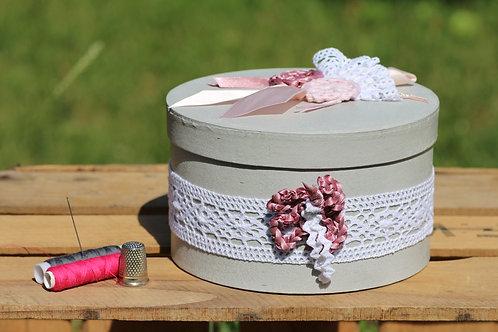 Boite ronde décoration au crochet