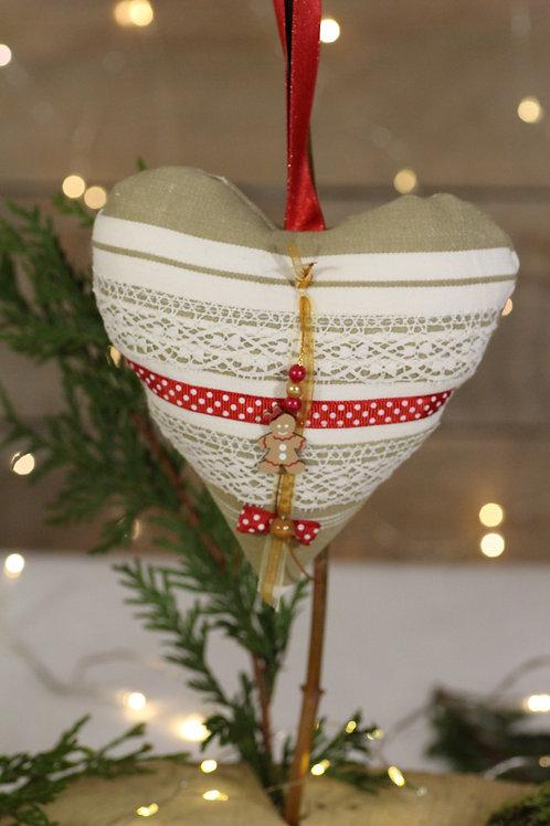 Coeur de Noël Toile à matelas