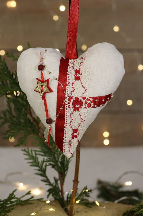 Coeur de Noël Ecru